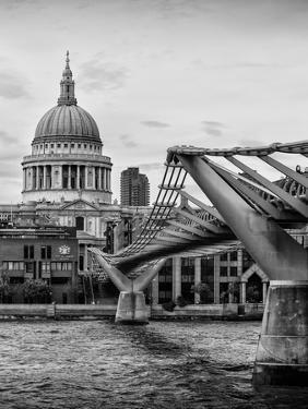 Millennium Bridge and St. Paul's Cathedral - City of London - UK - England - United Kingdom by Philippe Hugonnard