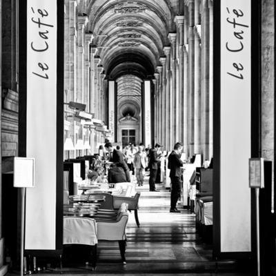 Modern Brewery, Cafe Marly, the Louvre Museum, Glass Pyramids, Paris, France by Philippe Hugonnard