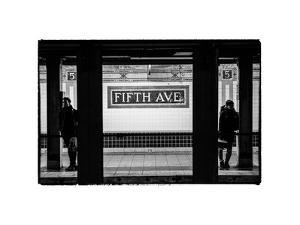 Moment of Life in NYC Subway Station to the Fifth Avenue - Manhattan - New York City by Philippe Hugonnard