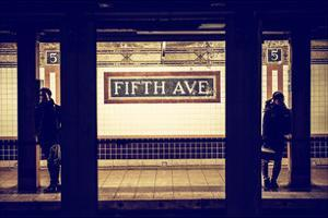 Moment of Life in NYC Subway Station to the Fifth Avenue - Manhattan - New York by Philippe Hugonnard