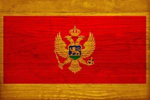 Montenegro Flag Design with Wood Patterning - Flags of the World Series by Philippe Hugonnard