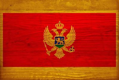 Montenegro Flag Design with Wood Patterning - Flags of the World Series