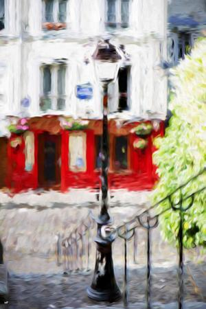 Montmartre Street - In the Style of Oil Painting by Philippe Hugonnard