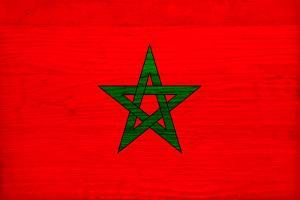 Morocco Flag Design with Wood Patterning - Flags of the World Series by Philippe Hugonnard