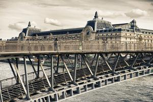 Musee d'Orsay - Solferino Bridge view - Paris - France by Philippe Hugonnard