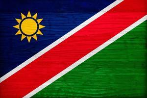 Namibia Flag Design with Wood Patterning - Flags of the World Series by Philippe Hugonnard