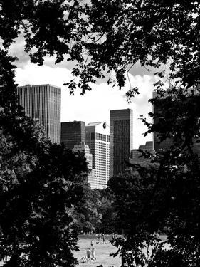 Natural Heart Formed by Trees Overlooking Buildings, Central Park in Summer, Manhattan, New York by Philippe Hugonnard