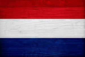 Netherlands Flag Design with Wood Patterning - Flags of the World Series by Philippe Hugonnard