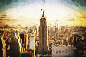 New York City II - In the Style of Oil Painting by Philippe Hugonnard