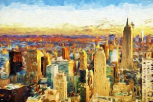 New York City V - In the Style of Oil Painting by Philippe Hugonnard