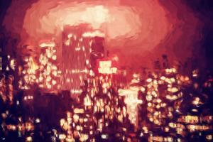 New York Hazy II - In the Style of Oil Painting by Philippe Hugonnard