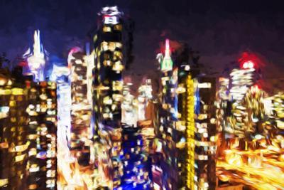 New York Night - In the Style of Oil Painting by Philippe Hugonnard