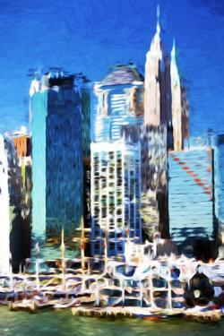 New York Skyscrapers - In the Style of Oil Painting by Philippe Hugonnard