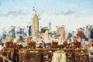 New York View - In the Style of Oil Painting by Philippe Hugonnard