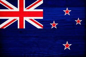New Zealand Flag Design with Wood Patterning - Flags of the World Series by Philippe Hugonnard