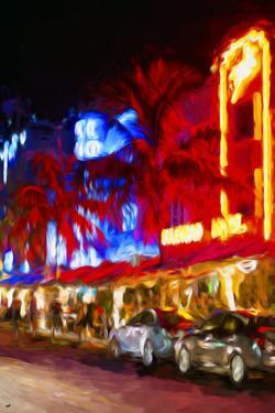 Night Ocean Drive IV - In the Style of Oil Painting by Philippe Hugonnard