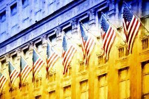Nine American Flags by Philippe Hugonnard