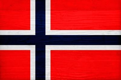 Norway Flag Design with Wood Patterning - Flags of the World Series