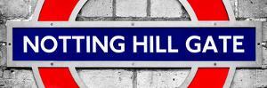 Notting Hill Gate Sign - Subway Station Sign - London - UK - England - United Kingdom - Europe by Philippe Hugonnard
