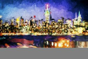NY City Night I - In the Style of Oil Painting by Philippe Hugonnard