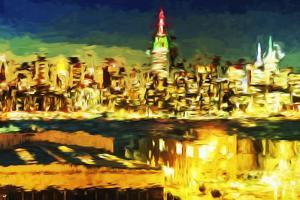 NY City Night V - In the Style of Oil Painting by Philippe Hugonnard