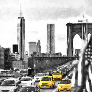 NY Taxis Bridge by Philippe Hugonnard