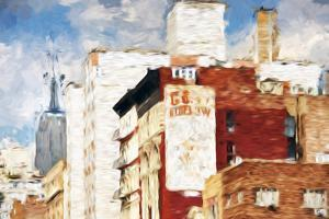 NYC Architecture - In the Style of Oil Painting by Philippe Hugonnard