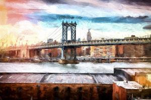 NYC Manhattan Bridge II by Philippe Hugonnard