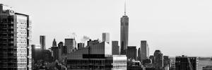 NYC Panoramic Cityscape with the One World Trade Center (1WTC) at Sunset by Philippe Hugonnard