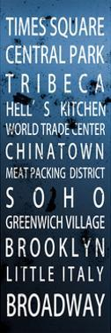 NYC Signs - New York Districts - Manhattan - New York City - USA by Philippe Hugonnard