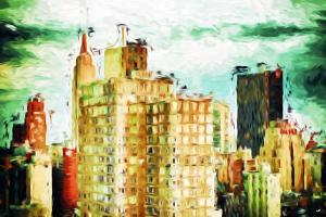 NYC Skygreen - In the Style of Oil Painting by Philippe Hugonnard