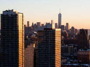 NYC Skyline at Sunset with the One World Trade Center (1WTC) by Philippe Hugonnard
