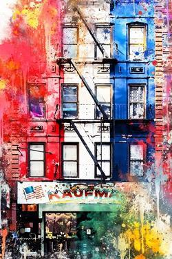 NYC Watercolor Collection - American Flag by Philippe Hugonnard