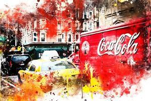 NYC Watercolor Collection - American Traffic by Philippe Hugonnard