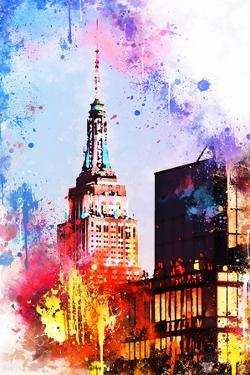 NYC Watercolor Collection - At the Top of the Empire by Philippe Hugonnard