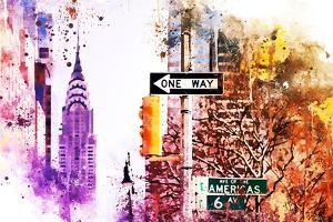 NYC Watercolor Collection - Avenue of the Americas by Philippe Hugonnard