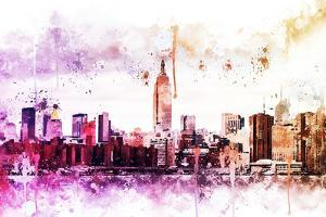 NYC Watercolor Collection - Between by Philippe Hugonnard
