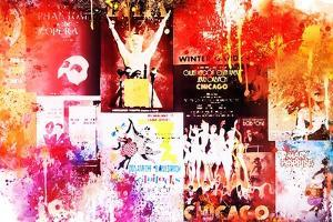 NYC Watercolor Collection - Broadway Shows IV by Philippe Hugonnard