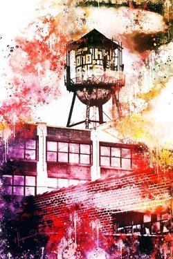 NYC Watercolor Collection - Brooklyn Industry by Philippe Hugonnard