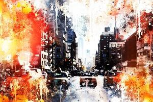 NYC Watercolor Collection - Busy by Philippe Hugonnard