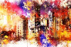 NYC Watercolor Collection - Color Explosion by Philippe Hugonnard