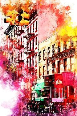 NYC Watercolor Collection - Colorful Buildings by Philippe Hugonnard