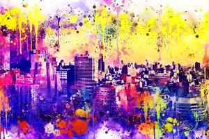 NYC Watercolor Collection - Colorful Midtown by Philippe Hugonnard