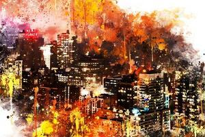 NYC Watercolor Collection - Colorful Night by Philippe Hugonnard