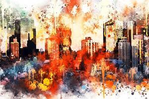 NYC Watercolor Collection - Colors of Manhattan by Philippe Hugonnard