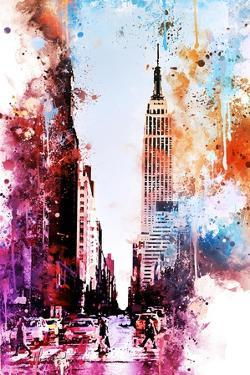 NYC Watercolor Collection - Crossing by Philippe Hugonnard