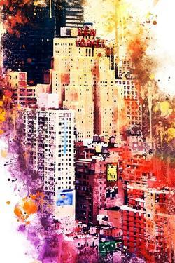 NYC Watercolor Collection - District by Philippe Hugonnard