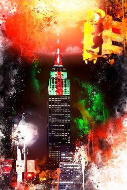 NYC Watercolor Collection - Empire by Night by Philippe Hugonnard