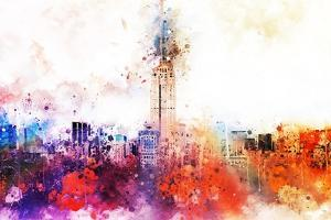 NYC Watercolor Collection - Empire Skyline by Philippe Hugonnard