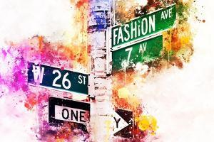 NYC Watercolor Collection - Fashion Ave by Philippe Hugonnard